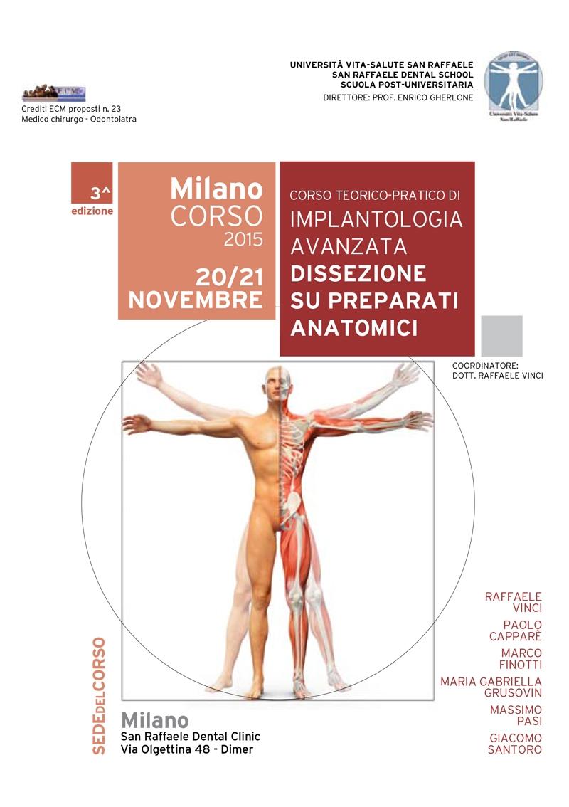 Corso teorico-pratico di Implantologia Avanzata Dissezione su preparati anatomici