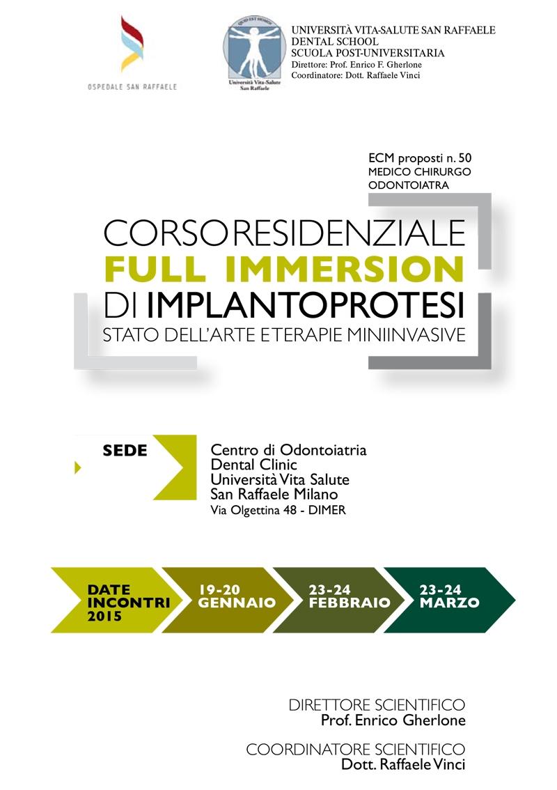 Corso residenziale FULL IMMERSION di Implantoprotesi