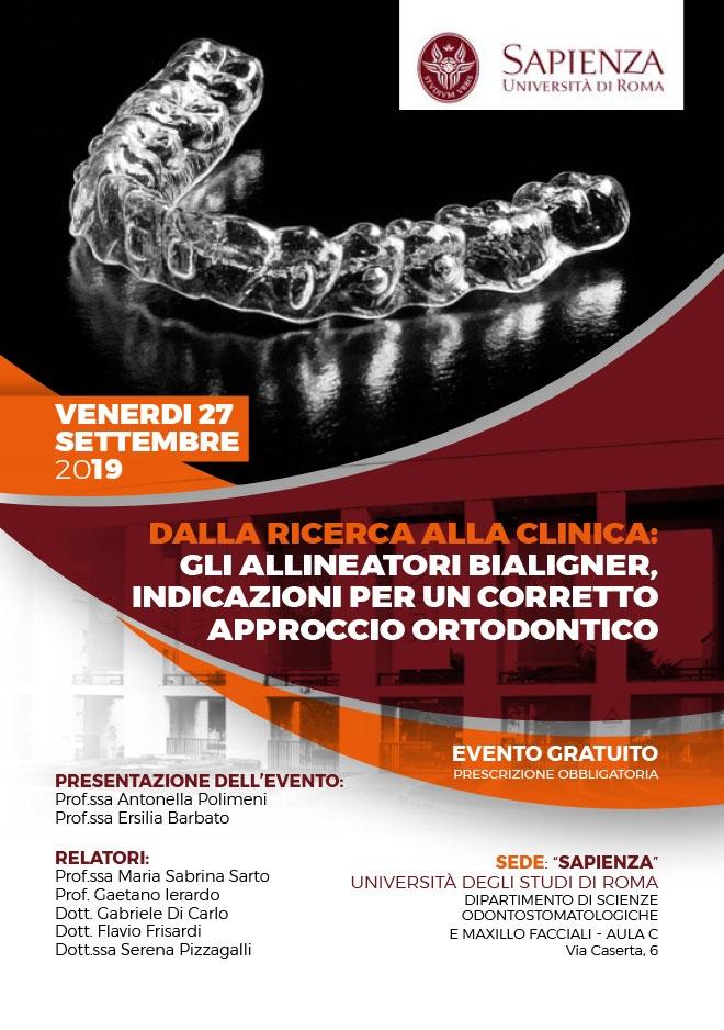 Incontro Bialigner – Roma, 27 Settembre 2019 Sapienza