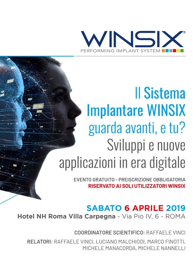 Il Sistema Implantare WINSIX guarda avanti, e tu?