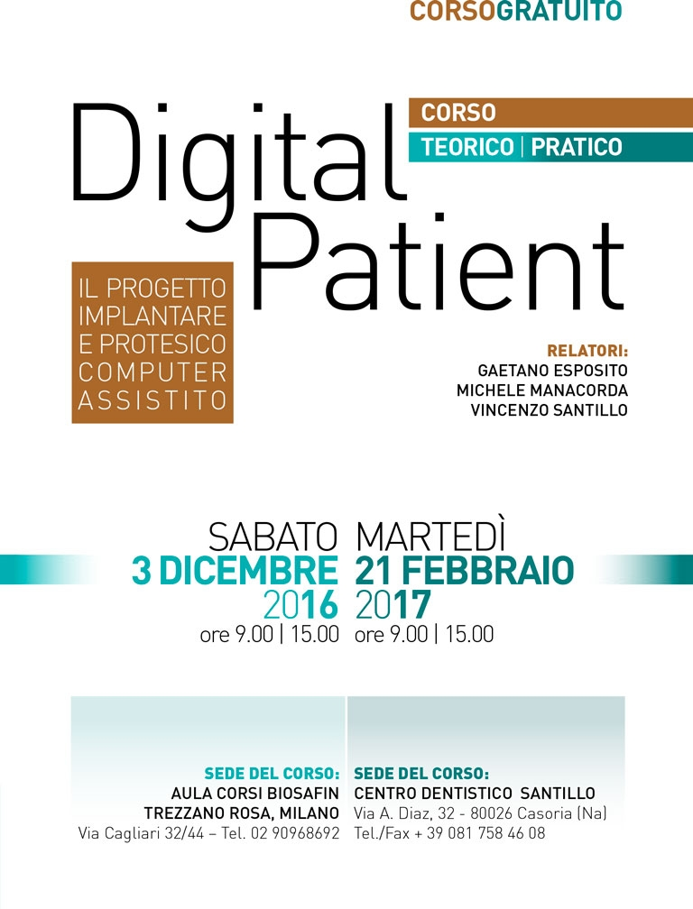 DIGITAL PATIENT – CORSO CHIRURGIA GUIDATA 2017