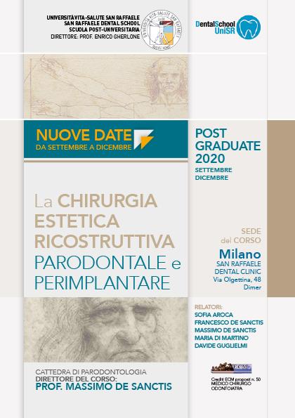 Corso Post Graduate 2020: La chirurgia estetica ricostruttiva parodontale e perimplantare