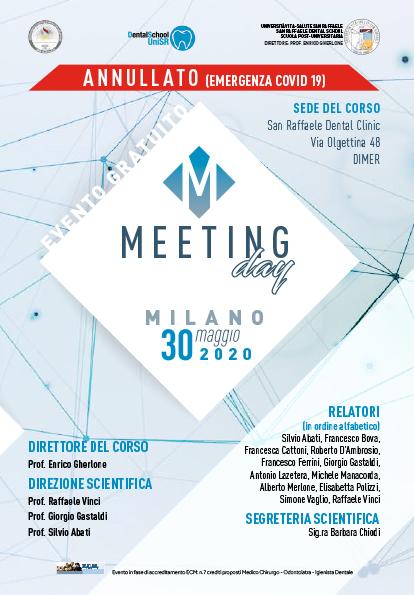 Meeting Day – Milano, 30 Maggio 2020 ANNULLATO (emergenza COVID 19)