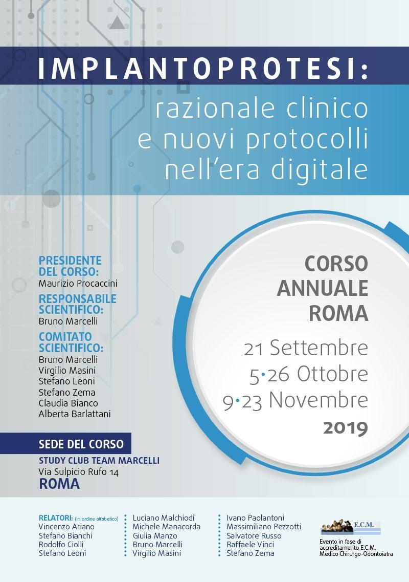Corso Implantoprotesi Roma – 2019