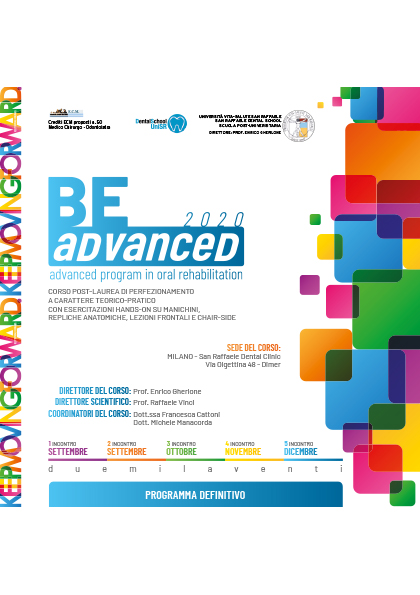 Corso Be Advanced 2020: advanced program in oral rehabilitation