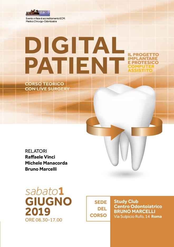 Corso Digital Patient 1 Giugno 2019 – Roma