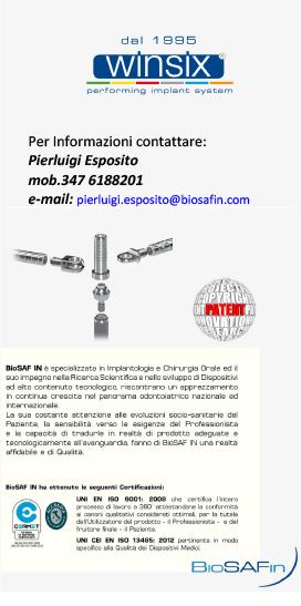 Riabilitazione del Paziente edentulo con carico immediato alla poltrona: Tecnica Just on 4® e utilizzo della Barra CAB®