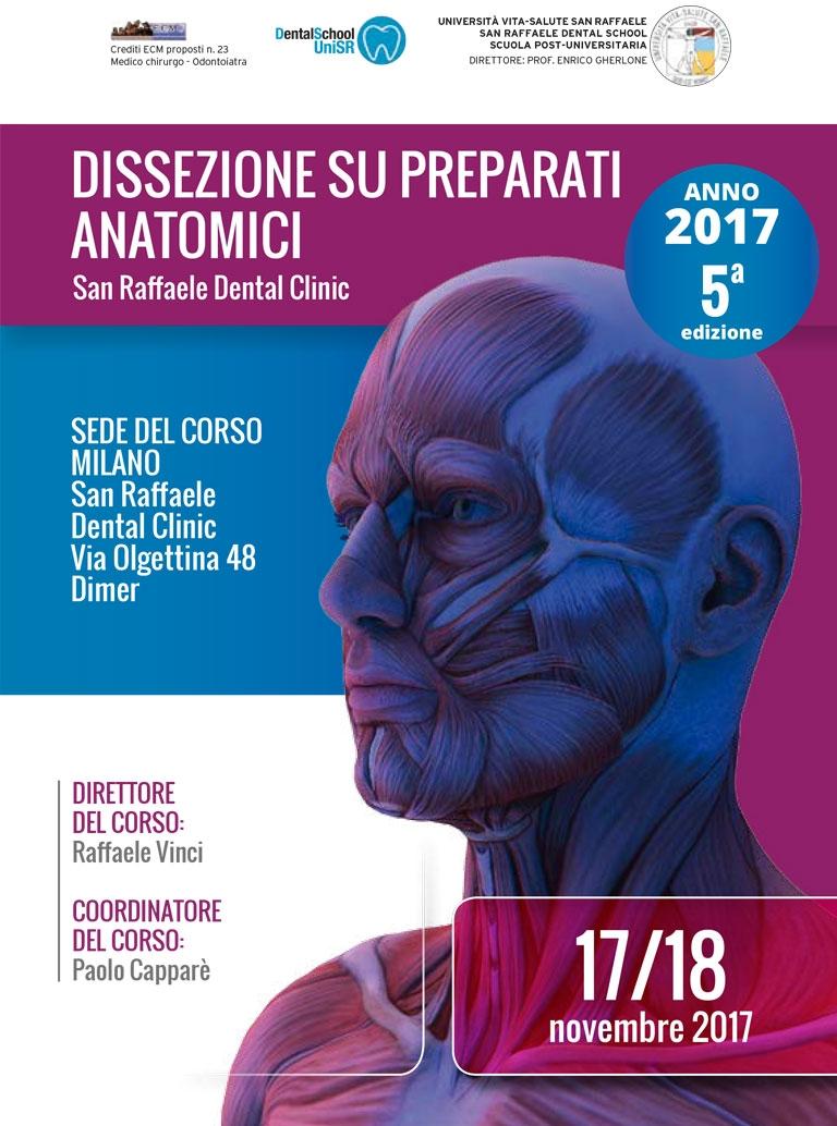 CORSO DISSEZIONE SU PREPARATI ANATOMICI ANNO 2017 5° EDIZIONE