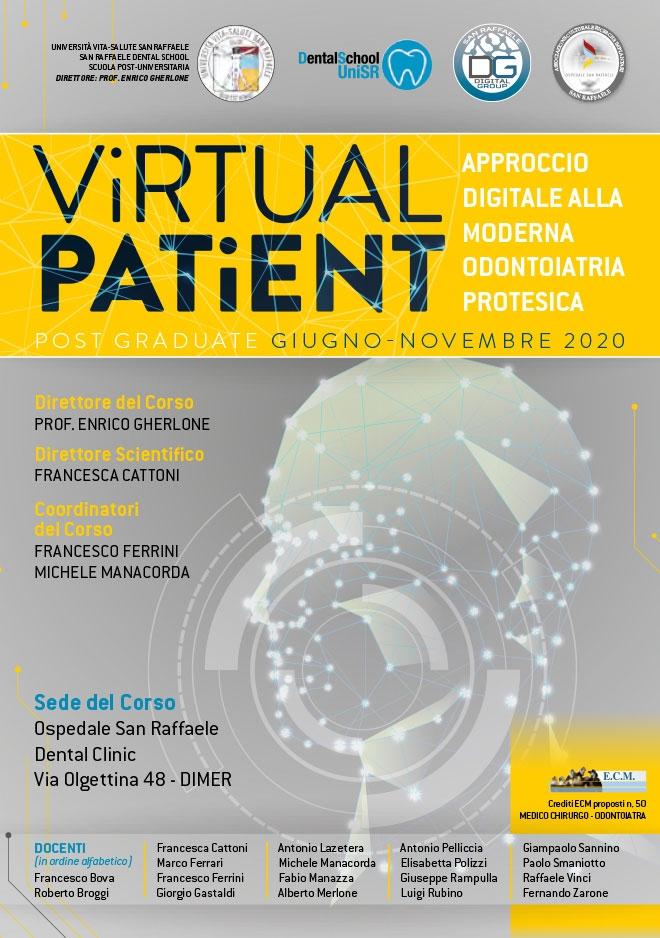 Corso Virtual Patient – Approccio digitale alla moderna odontoiatria protesica – 2020