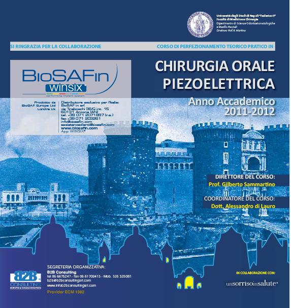 """""""Corso di Perfezionamento teorico pratico in chirurgia orale piezoelettrica"""" – BioSAF IN"""