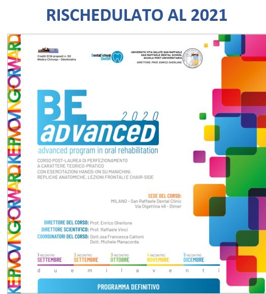 Be Advance program in oral rehabilitation